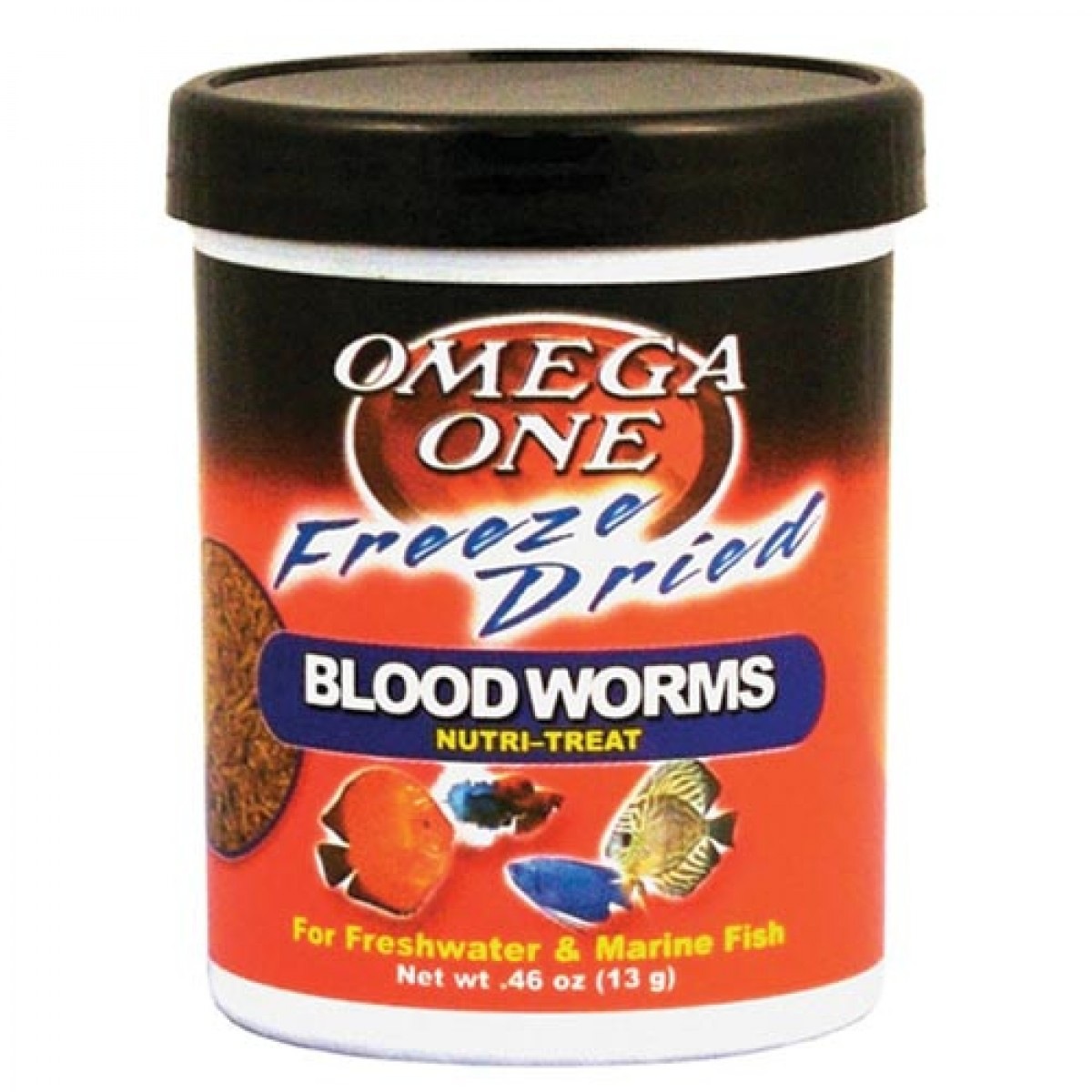 Omega one freeze dried bloodworms nutri treat oz for Bloodworms fish food