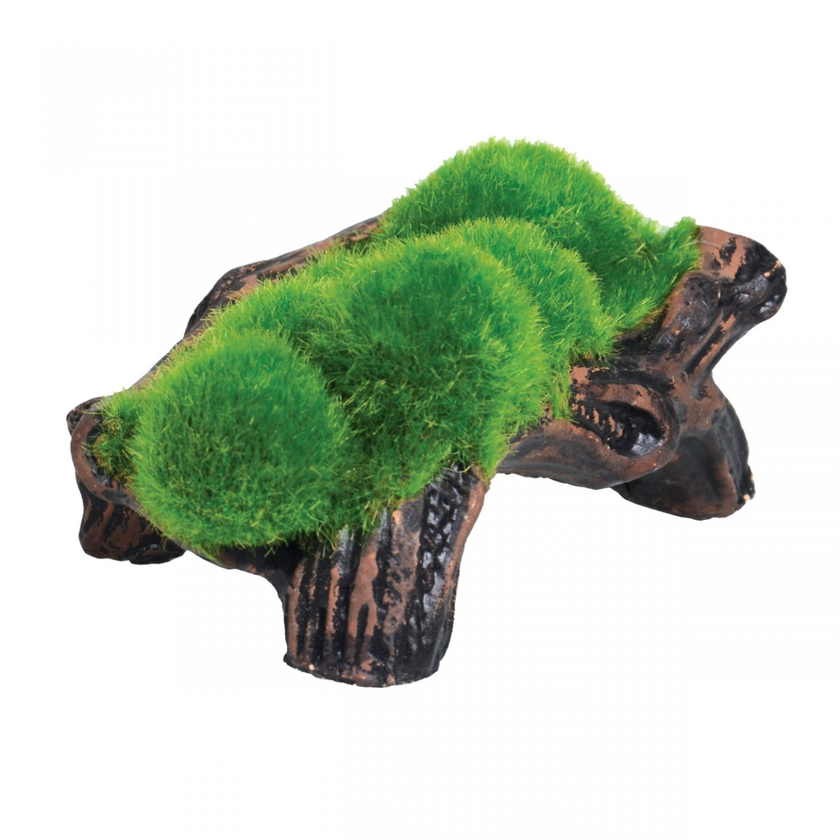 Underwater treasures mossy log cave with airstone for The fish 95 5