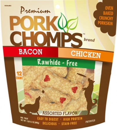 Scott Pet Premium Pork Chomps - Assorted Crunch - 12 pk