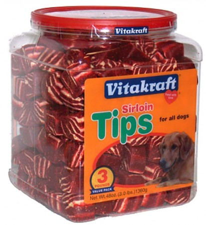 Vitakraft Sunseed Sirloin Tips - Treat Jar - 48 oz