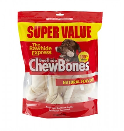 The Rawhide Express Beefhide ChewBones - Assorted Flavors - 3 lb