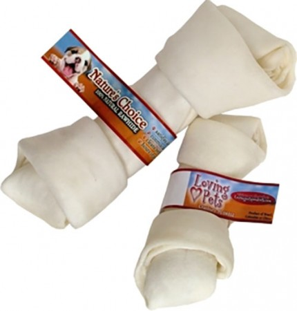 Loving Pets Products Nature's Choice White Rawhide Bones