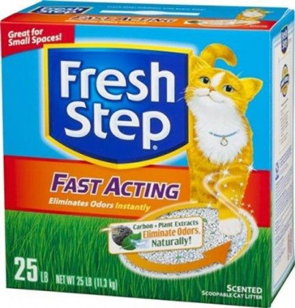 Fresh Step Fast Acting Scoopable Cat Litter - Scented - 25 lb