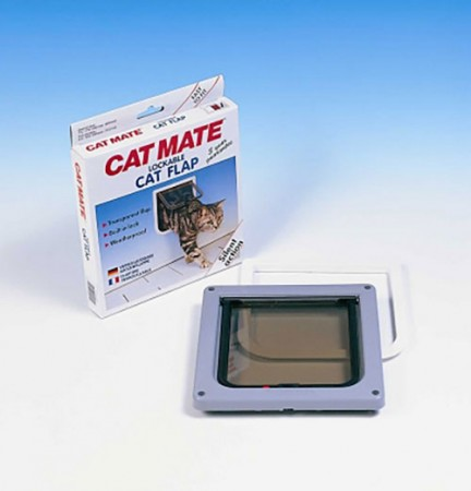 "Lockable Cat Flap - White - 7.63"" x 7.88"""