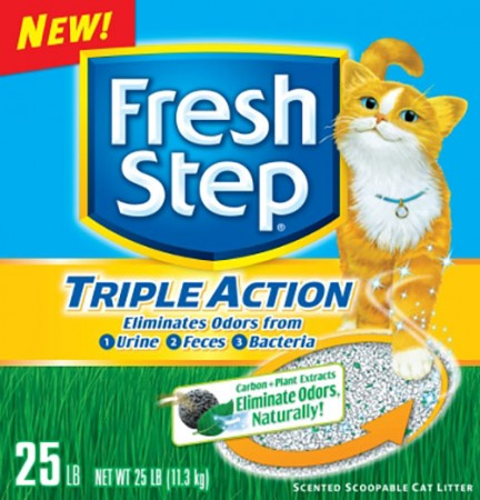 Fresh Step Triple Action Scoopable Cat Litter - Scented - 25 lb