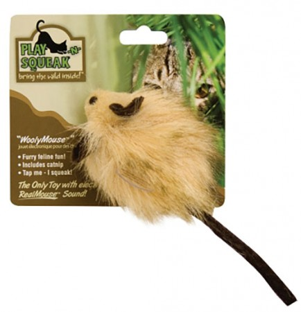 """OurPets Wooly Mouse - 3"""""""