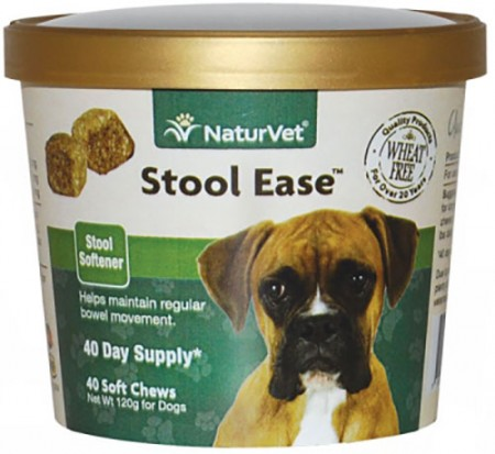 NaturVet Stool Ease Stool Softener Soft Chews - 40 pk