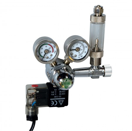 Ista CO2 Controller with Solenoid, Bubble Counter & Check Valve