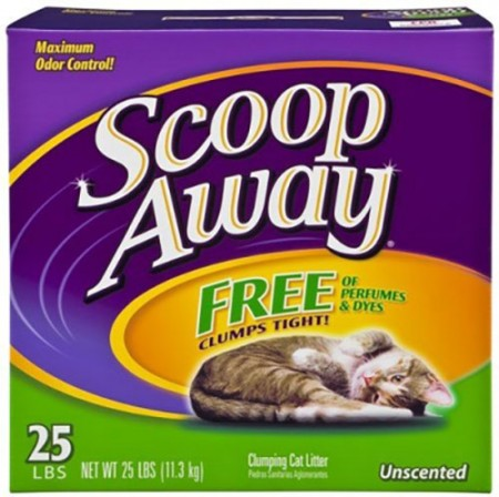 Scoop Away Super Clump Scoopable Cat Litter - Unscented - 25 lb