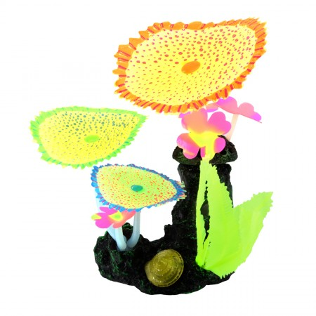Underwater Treasures Glow Action Bubbling Carpet Coral Garden - Yellow