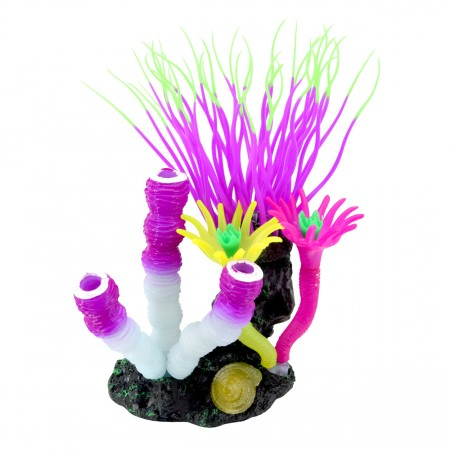 Underwater Treasures Glow Action Bubbling Anemone with Sponge Coral - Purple