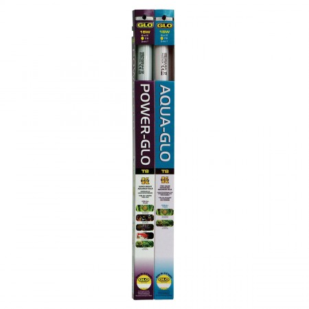 Hagen Power-Glo with Free Aqua-Glo T8 Fluorescent Lamp Combos