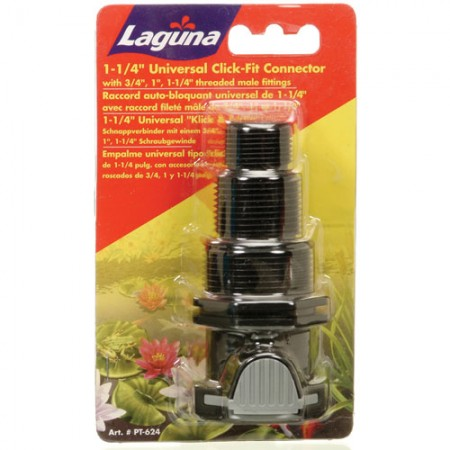 """Laguna 1.25"""" Universal Click-Fit Connector with .75"""", 1"""" & 1.25"""" Threaded Male Fitting"""