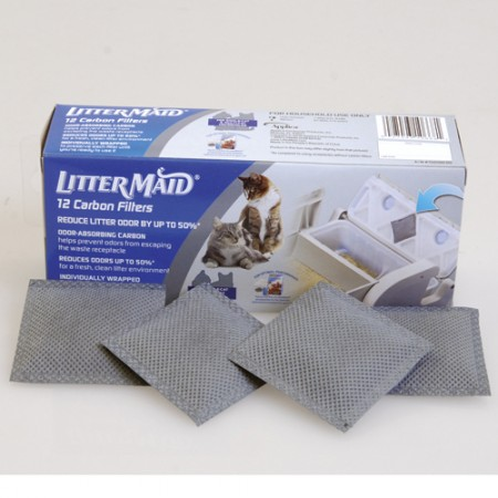 LitterMaid Litter Box Replacement Carbon Filters - 12 pk