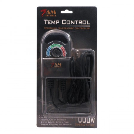 Reptile Treasures Temperature Control with Probe - 3 Outlet - 1000 W