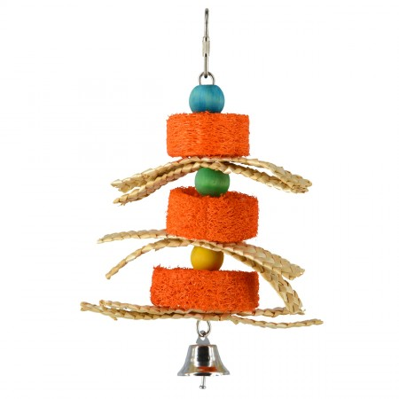 Animal Treasures Birdie Jingle Pumpkin Sponge Spinner