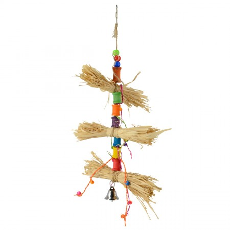 Animal Treasures Birdie Jingle Grass Spinner