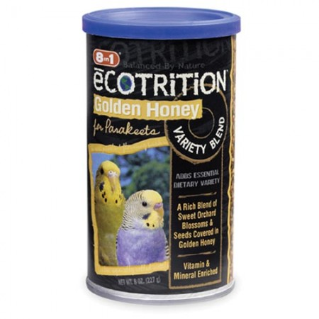 Ecotrition Golden Honey Variety Blend for Parakeets - 8 oz