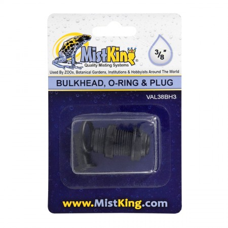 MistKing Bulkhead with O-Ring for Misting Systems - 3/8""