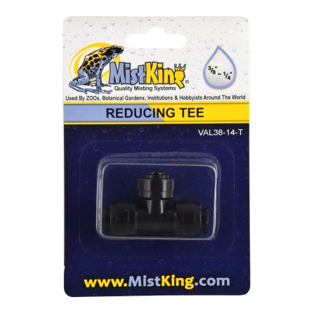 """MistKing Reducing Tee for Misting Systems - 3/8"""" to 1/4"""""""