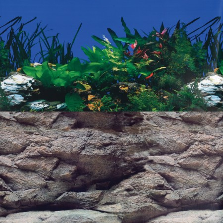 Underwater Treasures White Stone River/Rock Wall Reversible Backgrounds