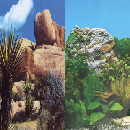 "Underwater Treasures Grassy Peaks/Green Abyss Reversible Background - 20"" - Sold by the Foot"