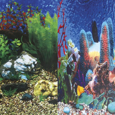 "Underwater Treasures Hawaii Blue/Show Reef Reversible Background - 20"" - Sold by the Foot"