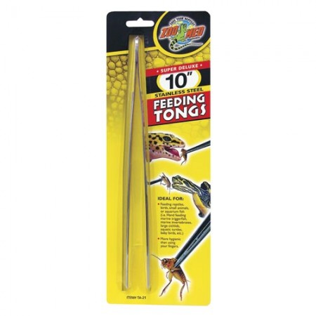 Zoo Med Super Deluxe Stainless Steel Feeding Tongs - 10""