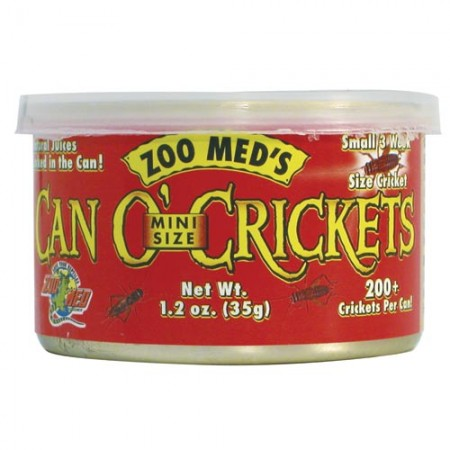 Zoo Med Can O' Crickets - Mini - 1.2 oz