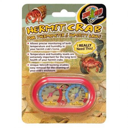 Zoo Med Hermit Crab Dual Thermometer & Humidity Gauges