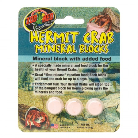Zoo Med Hermit Crab Mineral Blocks - 3 pk