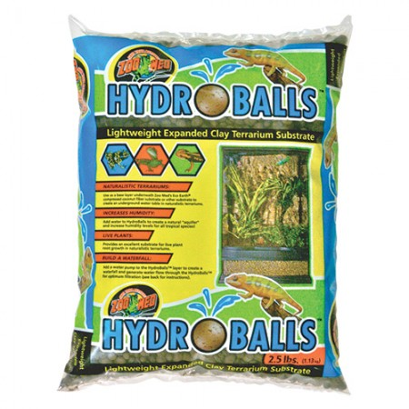 Zoo Med HydroBalls Lightweight Expanded Clay Terrarium Substrate - 2.5 lb