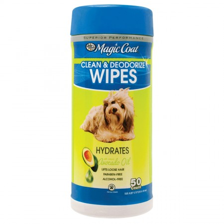 Four Paws Magic Coat Essential Avocado Oil Cleansing Wipes - 50 ct