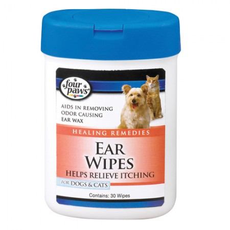 Four Paws Ear Wipes for Dogs & Cats - 30 pk