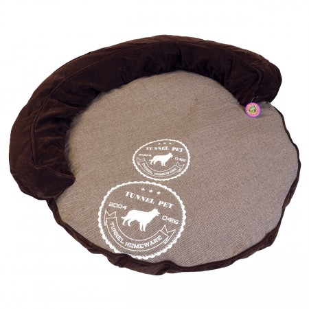 Animal Treasures Cozy Round Pet Lounger - Brown - 36""