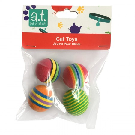 Animal Treasures Rainbow Foam Ball - 4 pk
