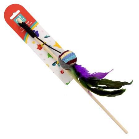 Animal Treasures Cat Feather Tethers