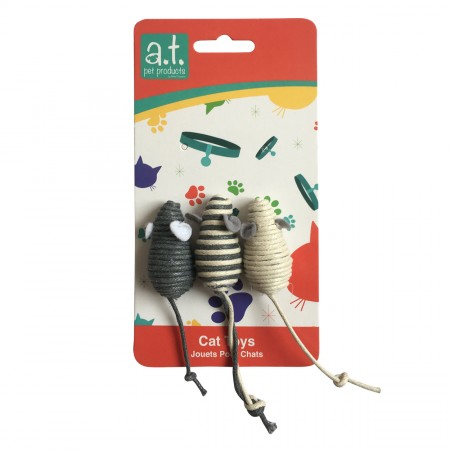 Animal Treasures Knotty Mouse - 3 pk