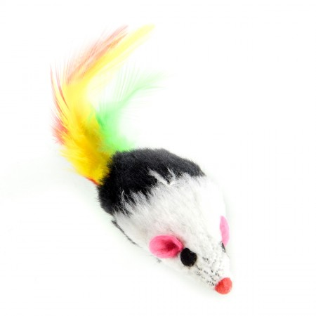 Animal Treasures Furry Mouse Toy - Feather Tail