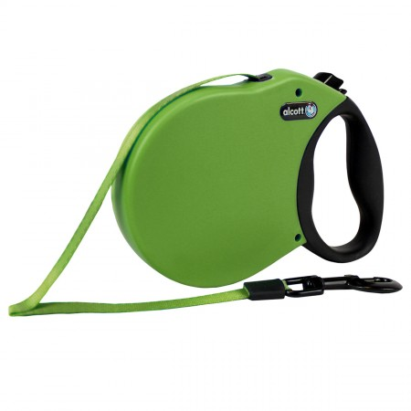 Alcott Adventure Retractable Leash - Green - X-Small