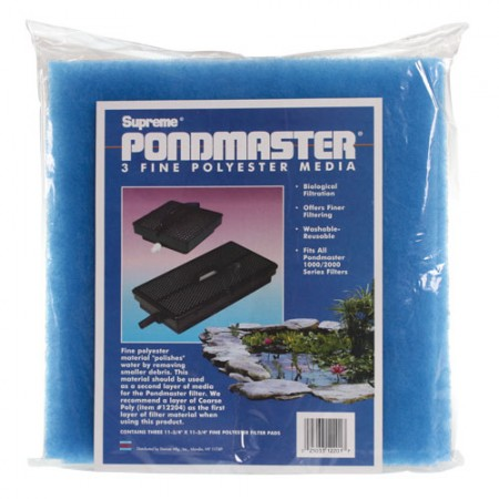 Pondmaster Blue Polyester Pads for 1000/2000 Submersible Filter Units - 3 pk