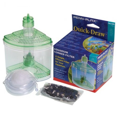 Quick-Draw Corner Aquarium Filter