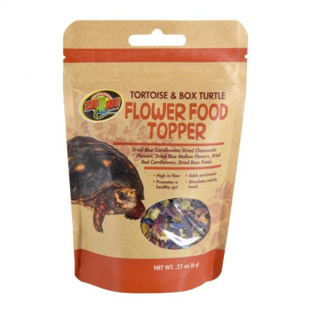 Zoo Med Flower Food Topper - Tortoise & Box Turtle - 0.21 oz