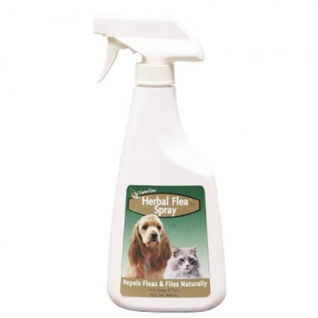 NaturVet Herbal Flea Pet Spray - 16 fl oz