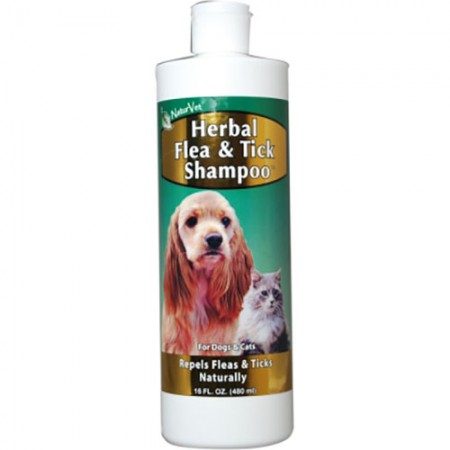 NaturVet Herbal Flea Shampoo - 16 fl oz