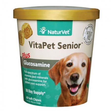 NaturVet VitaPet Senior Plus Glucosamine Soft Chews - 60 pk