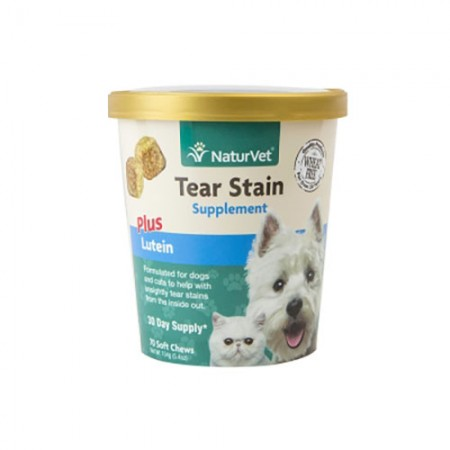 NaturVet Tear Stain PLUS Lutein Soft Chews - 70 pk
