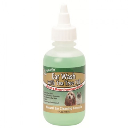 NaturVet Ear Wash with Tea Tree Oil - 4 fl oz