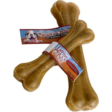 Loving Pets Products Nature's Choice Pressed Rawhide Bone - 12.5""