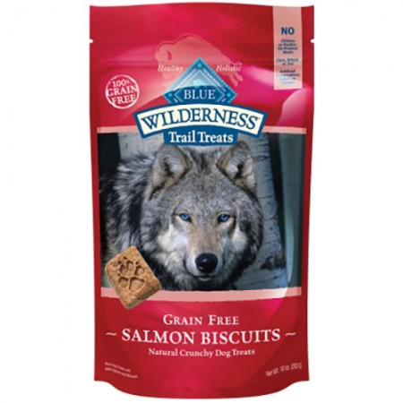 Blue Buffalo Wilderness Trail Treats - Salmon Biscuits - 10 oz